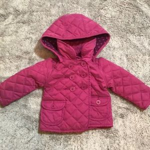 EUC! Baby Gap Quilted Pea Coat With Hood